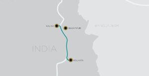 Antara Kolkata Shantipur itineraries MAP