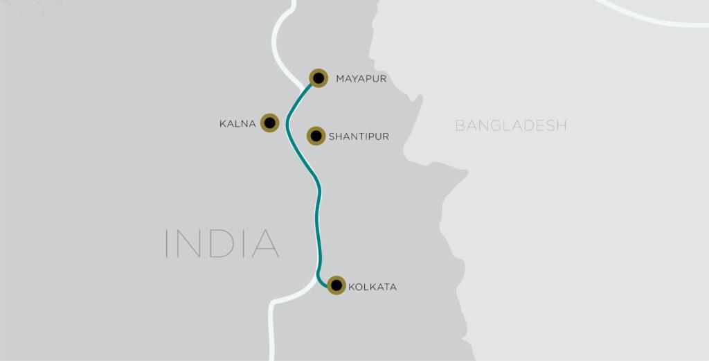 Antara Kolkata Mayapur itinerarie MAP